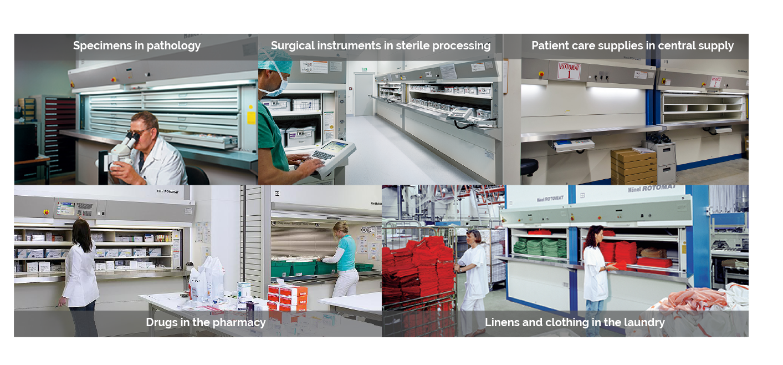 hanel rotomats - healthcare storage applications
