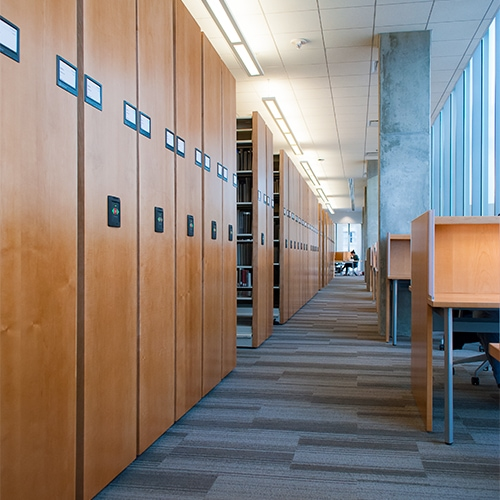 Compact Shelving for Libraries