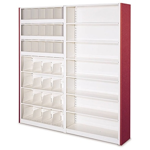 4 Post Shelving can easily be reconfigured to accommodate changing requirements