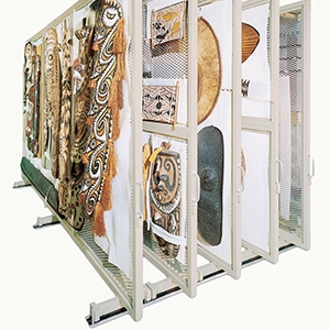 Mobile Art Rack Storage Solution
