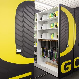 Compact Storage for Baseball Bats and Helmets