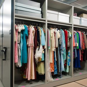 Mobile Shelving Storing Costumes