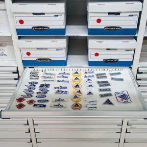 Modular Drawer Storage at Delta Airlines Museum