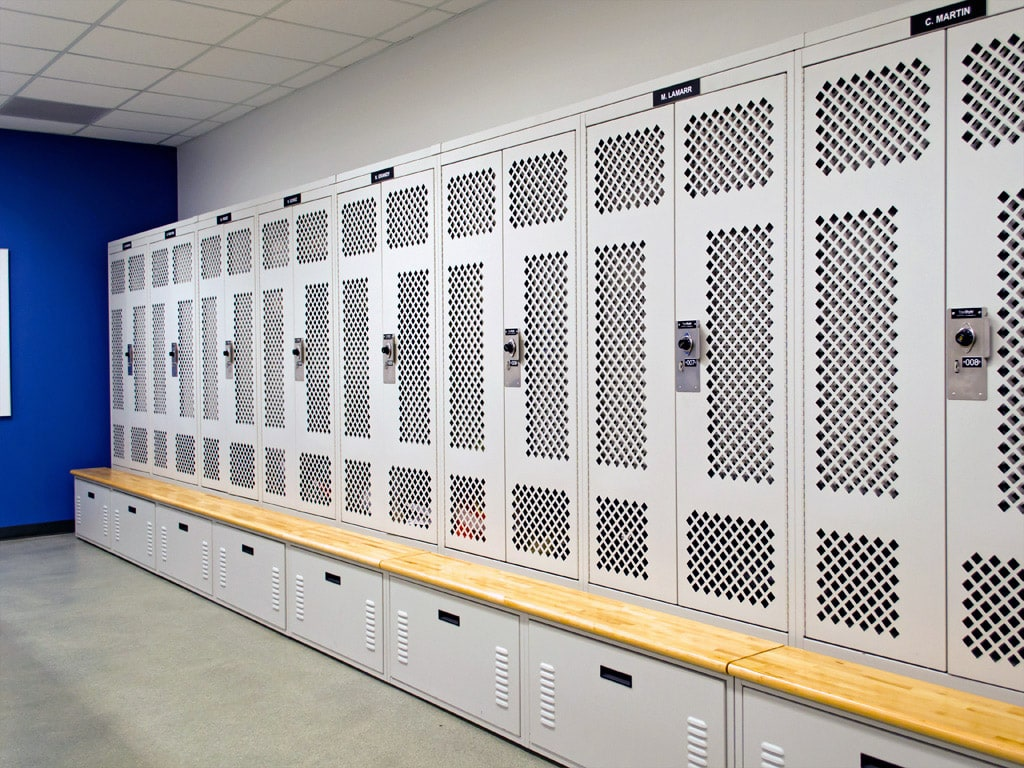 Franklin Police Department Personal locker storage