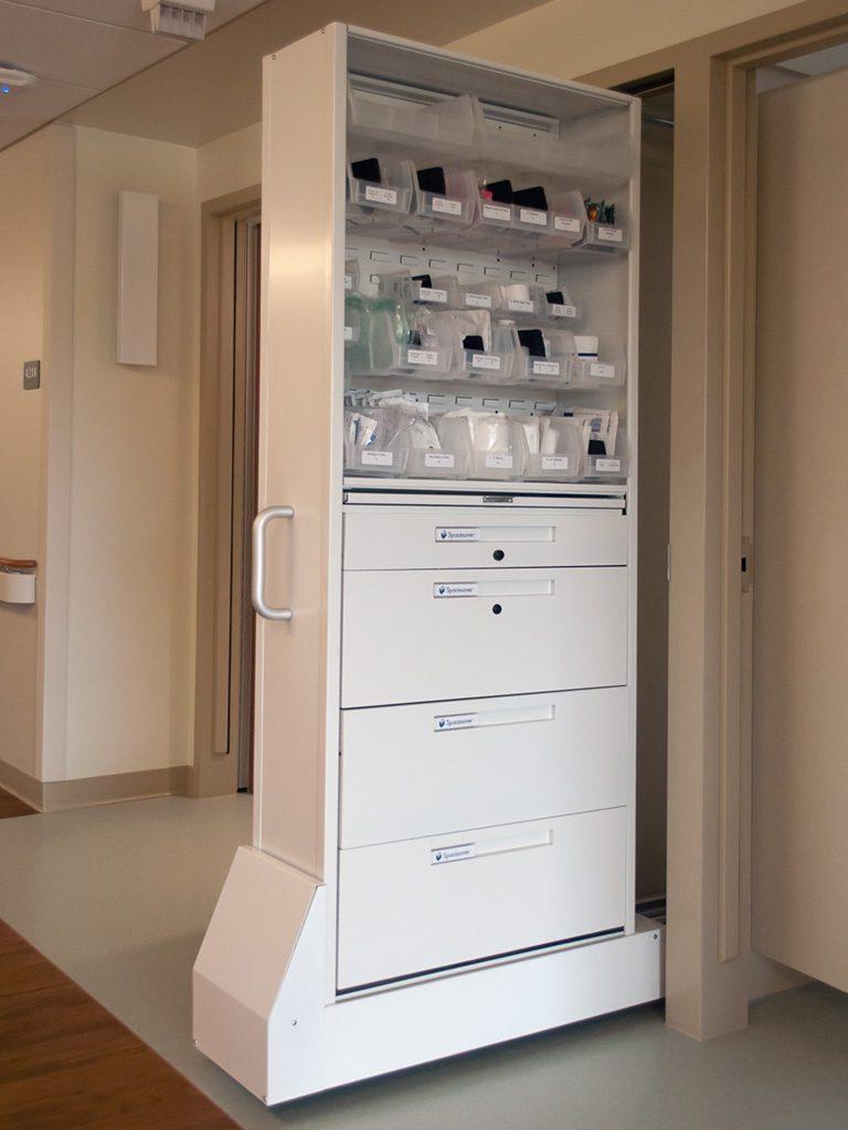 Patient Room Design: Nurse Server & Patient Server Medical Storage Cabinets