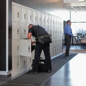 personal locker storage is safe and secure