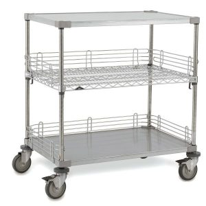 Medical Case Carts new optional wire shelf