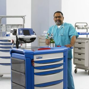 Medical code crash carts designed for optimal storage and retrieval