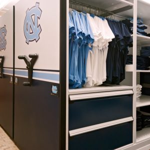 University Athletics Mobile Shelving Storage