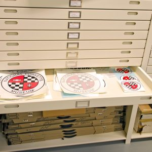 Flat File, archival cabinets at the National Corvette Museum
