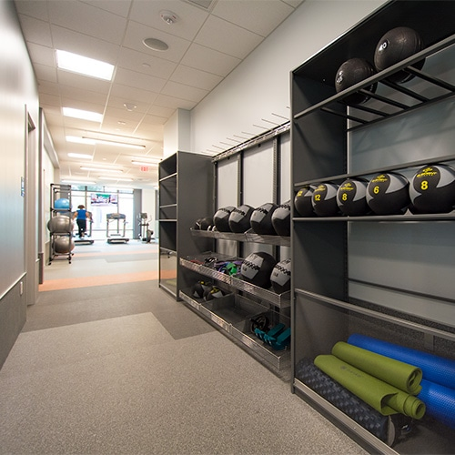 Corporate Campus Storage for Work Out Equipment