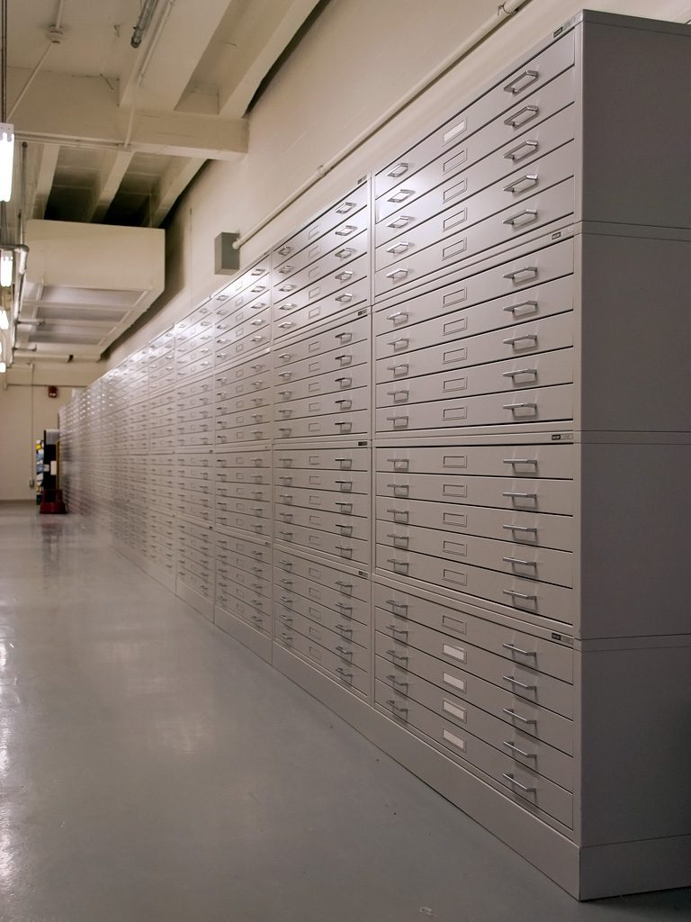 National Corvette Museum >> Flat File Cabinets, Map Cabinets and Museum Archival Storage | PP
