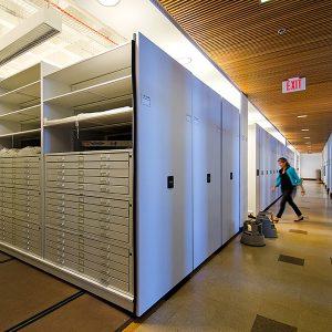 Powered High-Density Library Storage