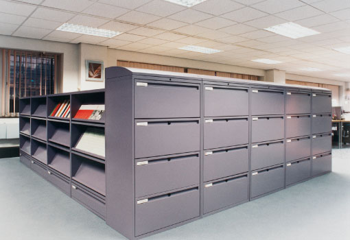 Lateral filing cabinets used as room ider & Lateral File Cabinet - Patterson Pope