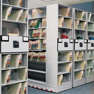 Case Type Shelving on Mobile Storage System