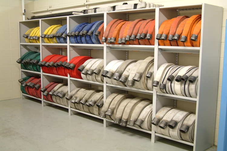 Shelving for Fire Hose Racking