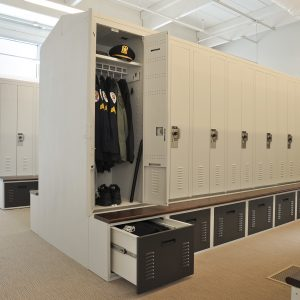 personal locker storage is adaptable