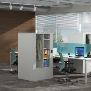 Rotary Times 2 with wardrobe for workstations