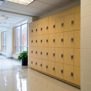 Day use lockers used at Medical School