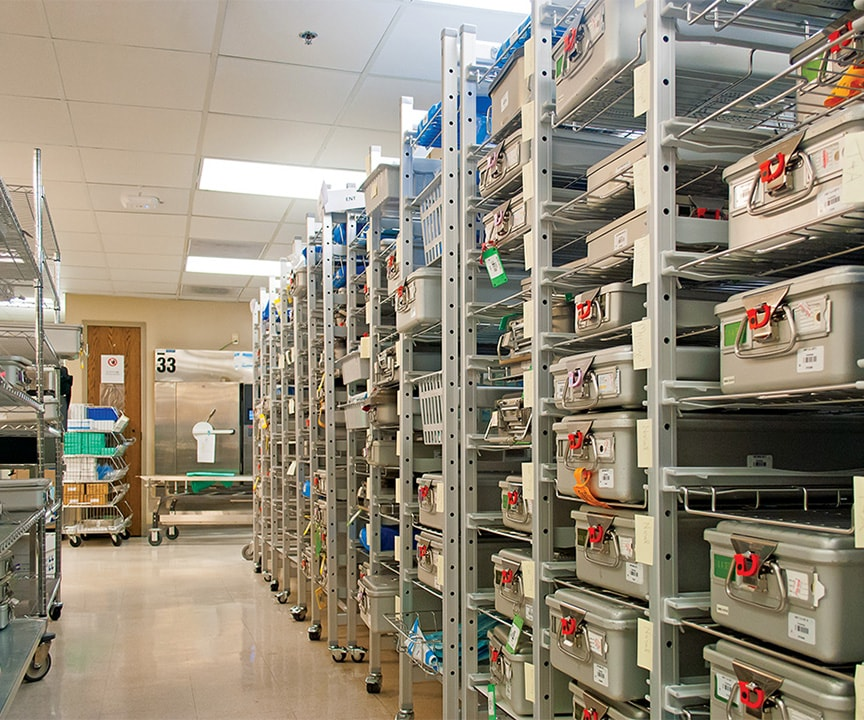 Belintra Sterisystem Healthcare Solutions allows medical supplies to be organized
