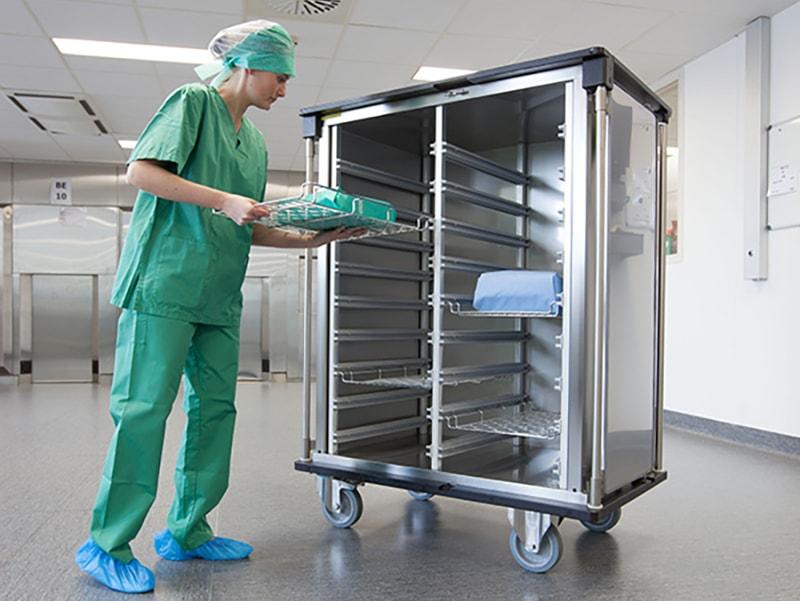 Belintra Sterisystem Healthcare Solutions carts provide transportation for medical instruments