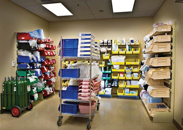Bin Shelving to keep you organized