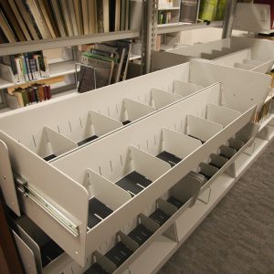 Cantilever Shelving at McClelland Irish Library