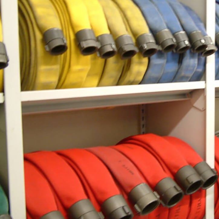 FIRE HOSE RACK SHELVING