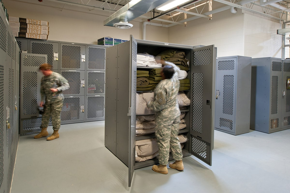 Gear and Tactical Readiness Lockers that easily store supplies