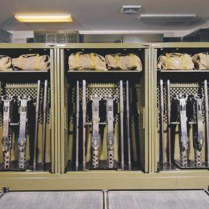 Mobile Universal Weapons Rack at Camp Lejeune