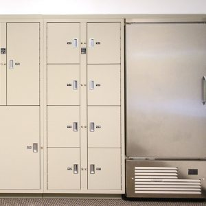 Refrigerated lockers pass through functionality