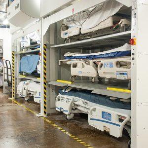 Hospital Bedlift Storage Solution
