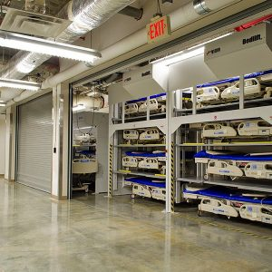 Hospital Bedlift Storage to maximize space