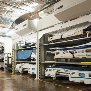 Bedlift Storage keeps beds clean when not in use