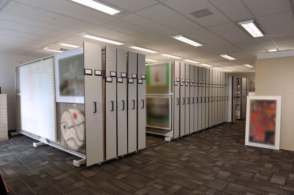 Art Storage Mobile Art Rack System Painting Storage