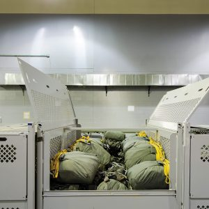 Military Parachute Storage Cages