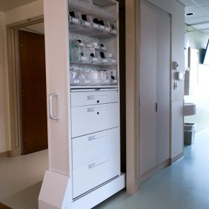 Nurse Server Cabinet Accessed from Outside of Patient Room