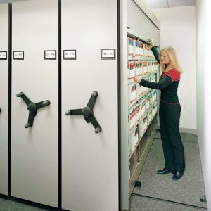 File Storage with Secure Tambour Doors