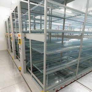 Powered Stainless Steel ActivRAC 7P Industrial Shelving