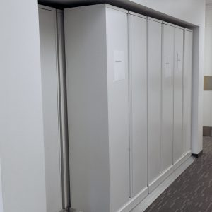 Law firm uses high-density lateral sliding shelving