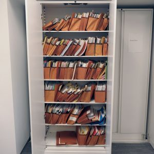 Law firm uses bi-file Lateral Sliding Shelving for legal files