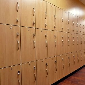 Close up of Laminate Lockers