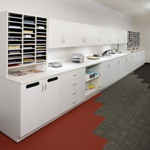Laminate Cabinets in office setting