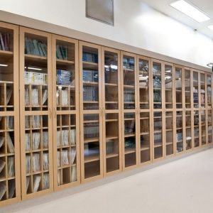 Laminate Cabinets with glass panes