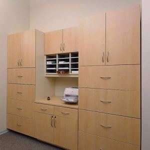Laminate Cabients for mailroom storage