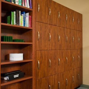 Laminate Lockers in office setting