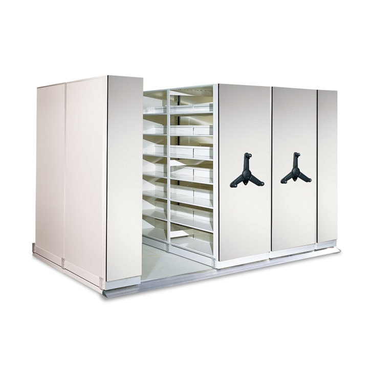 Mechancial-Assist Mobile Shelving System