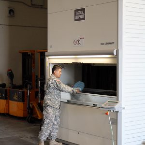 Vertical Lifts for Tactical Equipment Storage