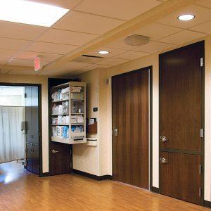 Nurse Server Cabinet for Patient Room Storage