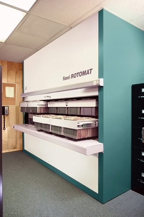 Vertical Office Carousel Automated Storage And Retrieval